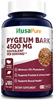 Pygeum Bark 4500mg 180 Veggie Caps (Non-GMO & Gluten Free) Supports Urinary & Prostate Health in Men - Reduces Inflammation