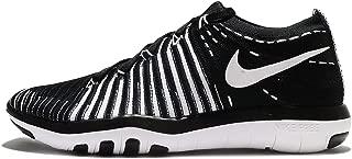 NIKE Womens Free Transform Flyknit Low Top Lace Up Fashion Sneakers (8.5 M US, Black/White)