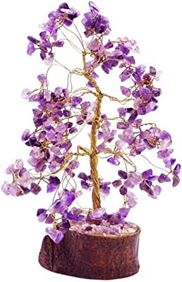 eshoppee vastu/feng Shui Amethyst Stone Tree for Peace of Mind and Happiness