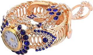 Balacoo Hand Harness Bracelet Bangle Quartz Watch Slave Chain Link Finger Ring Bracelet for Women and Girls Gifts Blue