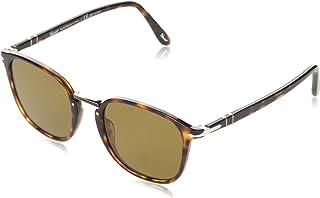 نظارة شمسية للرجال من بيرسول، لون بني، مقاس 24/57 53 53 ملم PO3186S