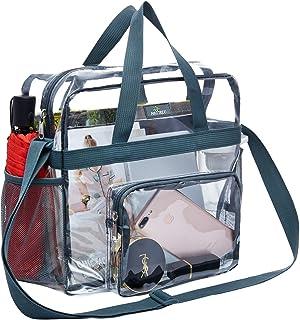 ورزشگاه MAY TREE Clear Bag تایید شده ، مقاوم در برابر سرما ، سبک و ضد آب ، کیف شفاف Tote و کیسه تمیز بدنسازی ، از طریق کیف Tote برای کار ، بازی ها و کنسرت های ورزشی مراجعه کنید-12 x12 x6