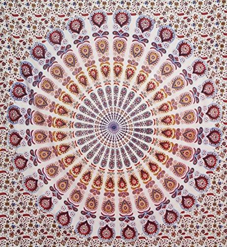 Indische Hippie Mandala Wandteppich, Tapisserie Hippie Camel Elefant Wandteppichen Doppelter Bettunterlagen aus Baumwolle, Tagesdecke von Online Big Bazar