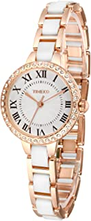 Time100 Fashion Ceramic Diamonds Dial Quartz Ladies Watch #W50270L.02A
