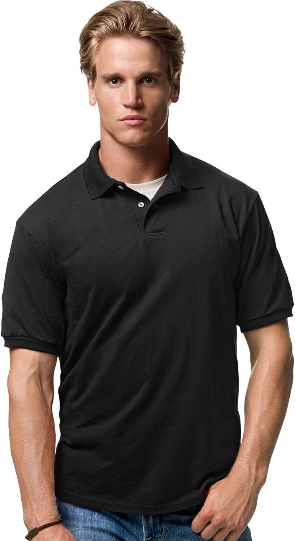 Hanes Cotton-Blend Jersey Men's Polo