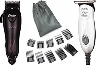 Details about Oster Combo Teqie Trimmer and MX Pro High Speed Adjustable Blade Hair Clipper With 10 Piece Comb Guides
