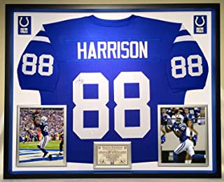Deluxe Framed Marvin Harrison Autographed Signed Colts Jersey Indianapolis Memorabilia - JSA Authentic