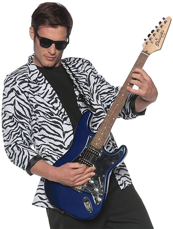 80s Men's Clothing   Shirts, Jeans, Jackets for Guys Mens 80s New Wave Costume Zebra Blazer  AT vintagedancer.com