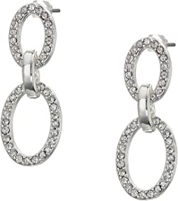 Crystal Pave Link Drop Earrings
