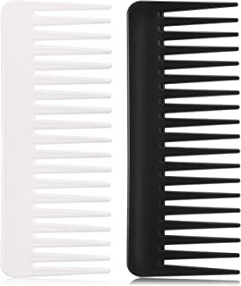 Large Hair Detangling Comb Wide Tooth Comb for Curly Hair Wet Dry Hair, No Handle Detangler Comb Styling Shampoo Comb (Bla...