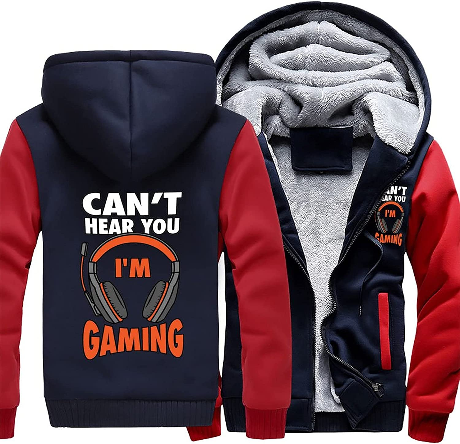 Can't Hear You I'm Gaming Ranking TOP4 Men's safety Fleece Pullover H Winter Workout