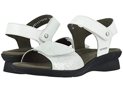 Mephisto Pattie (White Silk/Silver Crash) Women