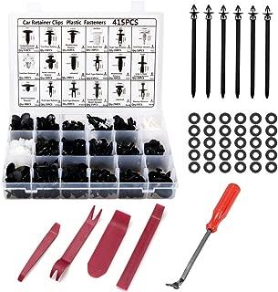 Poraxy 456Pcs Car Retainer Clips Plastic Fasteners Kit - 18 Size Auto Push Pin Rivets Fastener Removal Tool Set, Door Trim Panel Fastener Rivet Clips for GM Ford Toyota Honda Chrysler