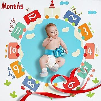 beb/é reutilizable manta pa/ñales para fotograf/ía CAVN mensual beb/é hito manta foto atrezzo brotes tel/ón de fondo