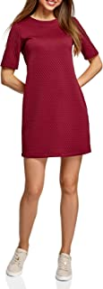 oodji Collection Women`s Straight Dress in Textured Fabric
