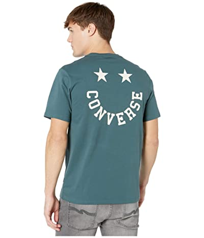 Converse Happy Face Graphic Tee (Faded Spruce) Men