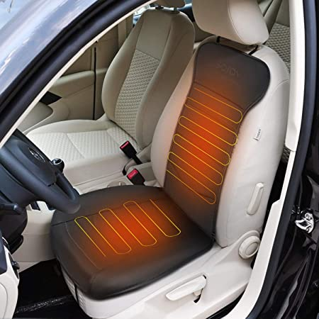 Office Home Heated Seat Cushion,Heating Cable Evenly Distributed Fiber Composite Warm and Breathable Seat Covers for Cars,Safe and Heat-Resistant 41.33x19.69in Heated Seats for Car