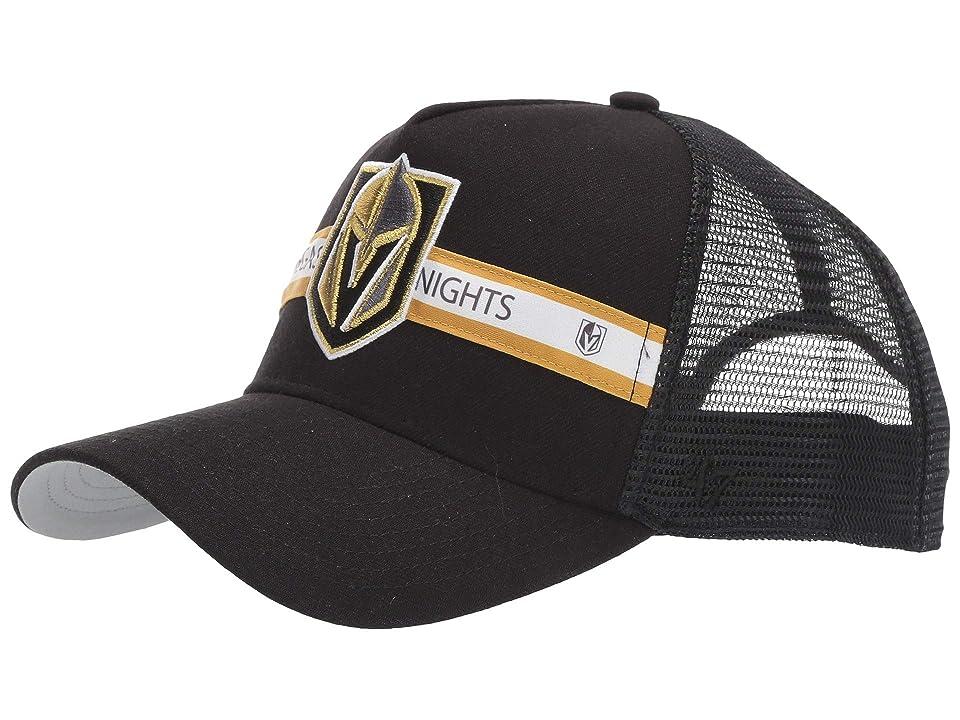 Image of '47 LV Golden Knights Tri Stripe 47 MVP (Black) Baseball Caps