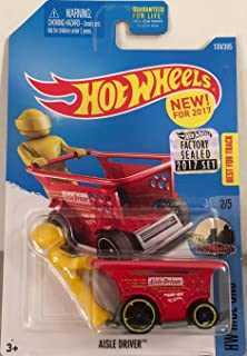 Hot Wheels 2017 HW Ride-Ons Aisle Driver (Shopping Cart Car) 139/365, Red