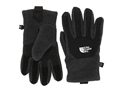 The North Face Kids Denali Etiptm Gloves (Big Kids) (TNF Dark Grey Heather) Extreme Cold Weather Gloves