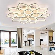 Creative Flower Shape LED Ceiling Lamp Modern Simple Flush Mount Ceiling Lighting Fixture for Bedroom Living Room Decorati...