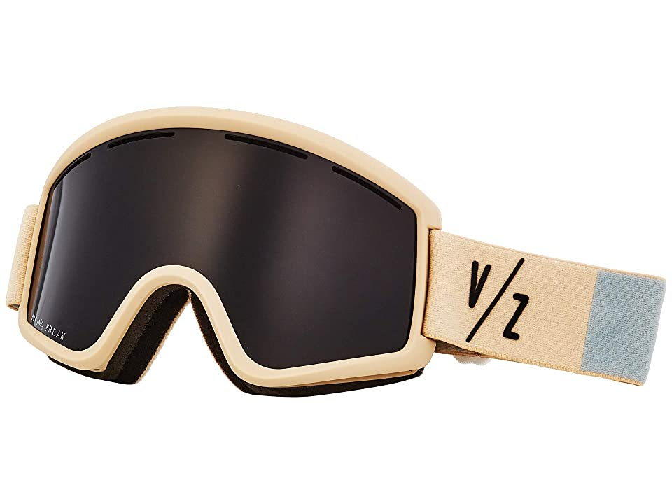 VonZipper Cleaver Goggle (Bone Satin/Wild Blackout) Snow Goggles