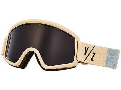 VonZipper Cleaver Goggle (Bone Satin/Wild Blackout) Snow Goggles