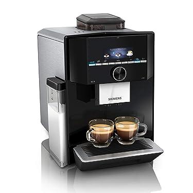 Siemens EQ.9 s300 Kaffeevollautomat TI923509DE, automatische Reinigung, Personalisierung, extra leise, 1.500 Watt, hochglanz schwarz, edelstahl