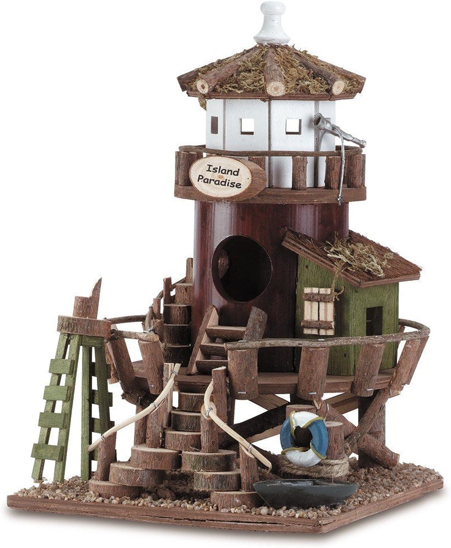 Eastwind Gifts 34716 Wood Bird House  Island Paradise