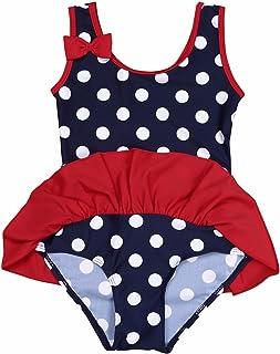 fbbb7a38d9 iEFiEL Baby Girls Cute Polka Dot Bow Ruffle Swimsuit Swimwear One-Piece  Bathing Suit