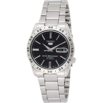 Seiko Men's Year-Round Automatic Watch with Stainless Steel Strap, Silver, 21 (Model: SNKE01K1)