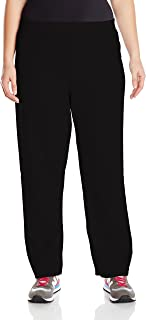 Just My Size Women's Plus-Size Fleece Sweatpant, Ebony, 4XL