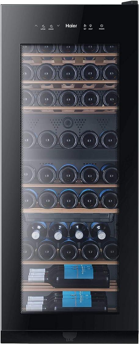 Cantinetta vino 53 bottiglie,libera installazione,doppia zona [classe efficienza energetica g]haier ws53gda
