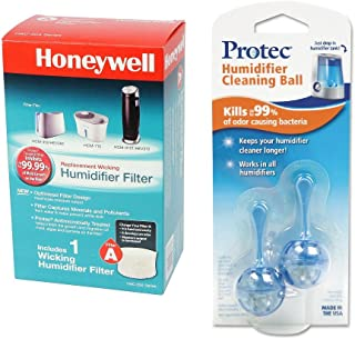 Honeywell HAC-504AW Humidifier Replacement Filter, Filter A, and ProTec PC2-V1 Humidifier Tank Cleaning Cartridge