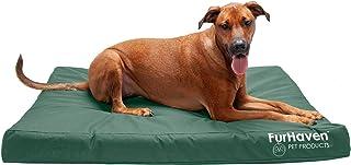Furhaven Pet Dog Bed - Deluxe Orthopedic Mat Water-Resistant Indoor-Outdoor Logo Print Traditional Foam Mattress Pet Bed w...