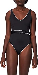Seafolly Women's Standard Dd Cup Deep V One Piece Swimsuit with Belt, Active
