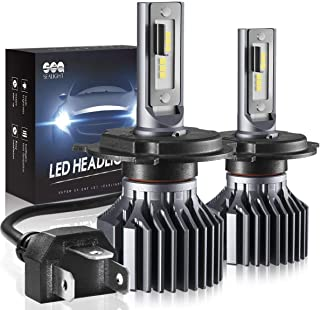 SEALIGHT H4 9003 HB2 Led Headlight Bulbs Hi/Lo Beam, S1 Series 24x CSP Led Chips light Conversion Kit - 6000LM 6000K White
