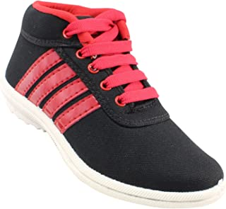 Claptrap Boys Lace Sneakers Black,Red