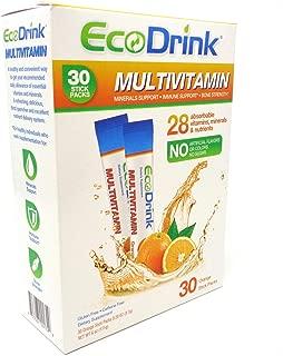 EcoDrink Complete Multivitamin & Minerals Drink Mix - Orange - 30 Refill Pack, No Bottle
