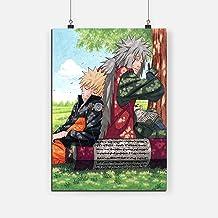 RINWUNS Canvas Wall Art Naruto and Jiraiya Poster Anime Wall Art Painting Prints on Canvas Giclee Artwork Gift for Manga F...