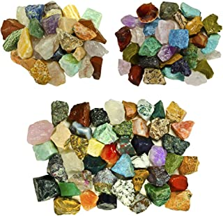Fantasia Materials: 3 lb Premium World Stone Mix (Largest Variety ON Amazon) from Asia, Brazil and Madagascar! Bulk Rough Raw Natural Crystals & Rocks for Tumbling, Polishing, Wire Wrapping, Reiki