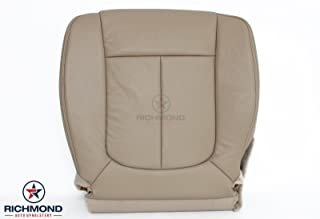 Richmond Auto Upholstery - Driver Side Bottom Replacement Non-Perforated Leather Seat Cover, Tan (Compatible with 2011 2012 2013 2014 Ford F150 F-150 Lariat)