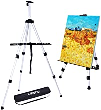 "Artist Easel, Ohuhu 66"" Aluminum Field Easel Stand with Bag for Table-Top/Floor, Art Easels with Adjustable Height from 21..."