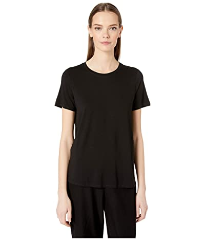 Eileen Fisher Roundneck Tee (Black) Women