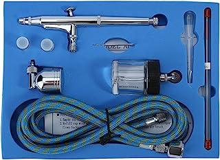 Dual Action Airbrush Kit, Dual Action Air Brush Kit Spray Gun Air Hose with 0.2mm/0.3mm/0.5mm Needle Spray Gun Paint Art f...