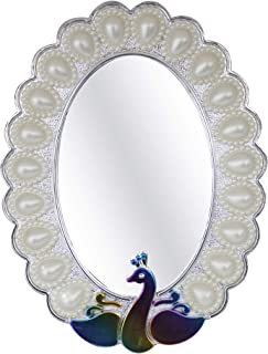Kabello Glass Wall Mirror (8 inch, Silver)