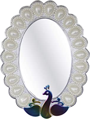 Kabello Glass Wall Mirror (8 inch, Silver)