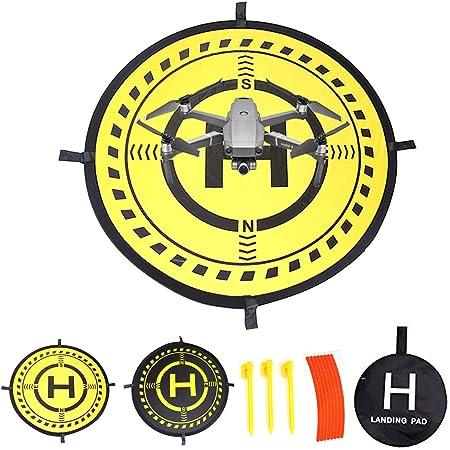 32 Inch Waterproof Collapsible Foldable Drone Landing Pad for DJI Tello Mavic 2 Zoom Mavic 2 Pro, Mavic Air Pro Platinum Phantom 3 4 Spark Accessories High Contrast