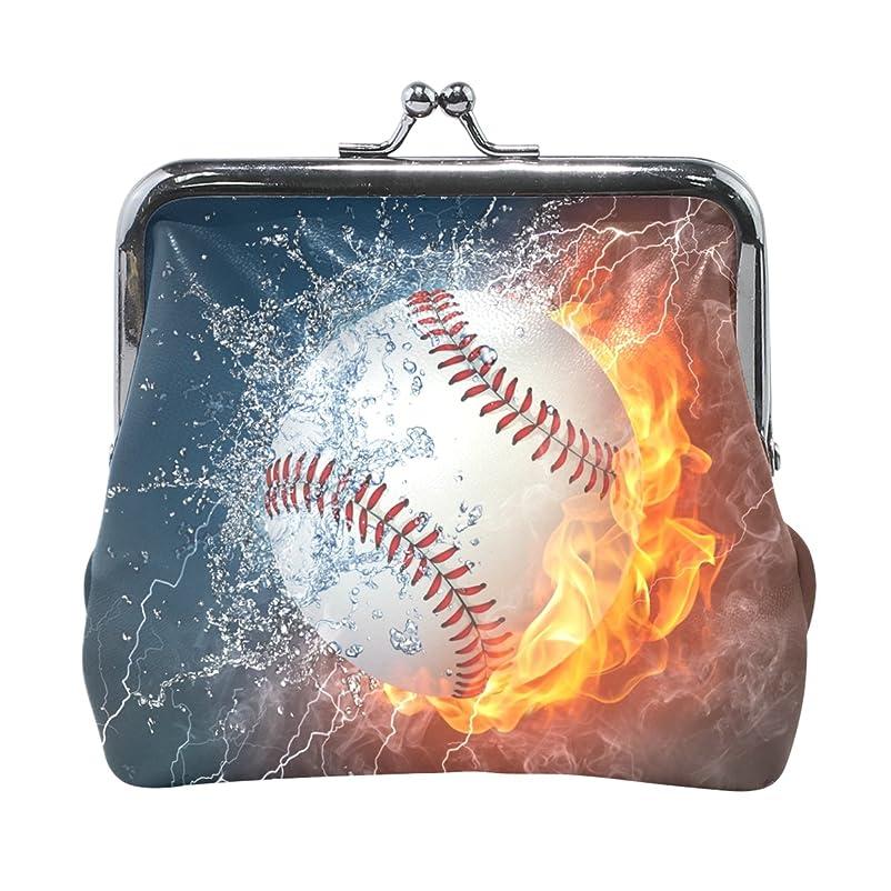 ハプニング行商人天井AOMOKI 財布 小銭入れ ガマ口 コインケース レディース メンズ レザー ボール 野球