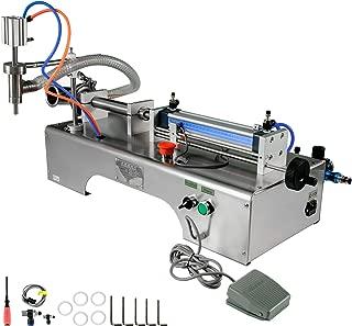 BestEquip 5-100ml Pneumatic Liquid Filling Machine 0.4-0.6MP Air Pressure Semi-automatic Liquid Filler with Single Head for Liquid Oil